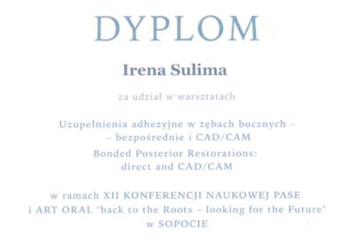 DENTYSTA Gdańsk CERTYFIKAT14