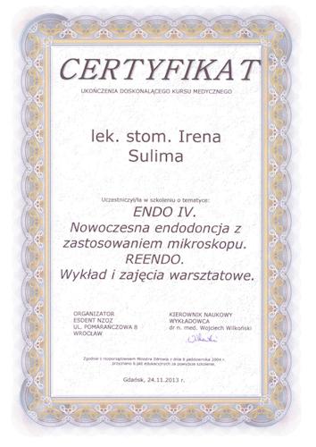 DENTYSTA Gdańsk CERTYFIKAT17