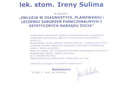DENTYSTA Gdańsk CERTYFIKAT19