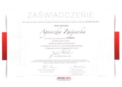 DENTYSTA Gdańsk CERTYFIKATskan12-1