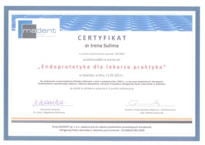 stomatolog Gdańsk CERTYFIKAT16