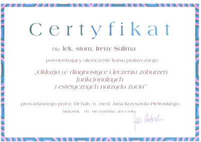 stomatolog Gdańsk CERTYFIKAT20