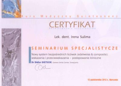 stomatolog Gdańsk CERTYFIKAT3