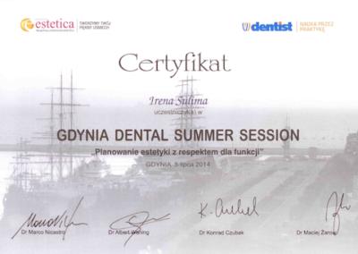 stomatolog Gdańsk CERTYFIKATcertyfikat_dental_session