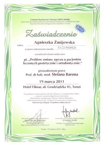 stomatolog Gdańsk CERTYFIKATskann18-1